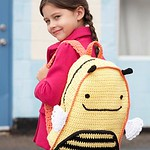 Busy Bee Backpack - Free Crochet Backpack Pattern