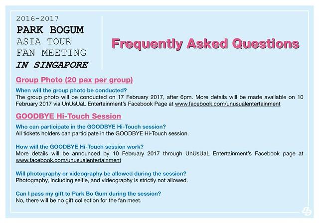 Park Bogum Asia Tour Fan Meeting in Singapore FAQ2