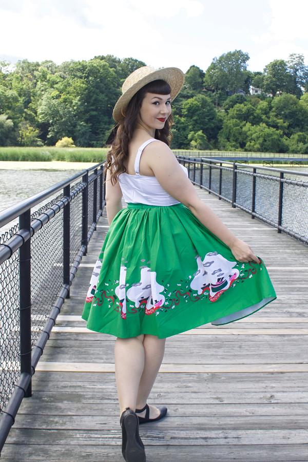 boat print skirt