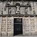 Porte Sainte, cathédrale de St Jacques de Compostelle, province de La Corogne, Galice, Espagne.