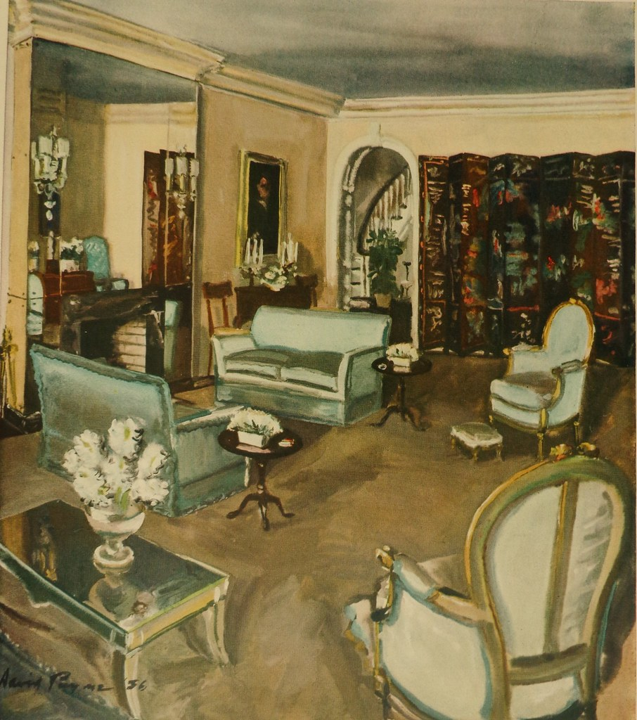 1930s living room 1930s living room by david mode payne published in house 10502