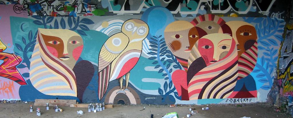 street art mural urban art wall painting otecki an flickr. Black Bedroom Furniture Sets. Home Design Ideas