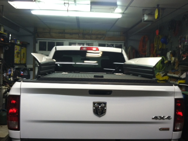 Black Heavy Duty Truck Bed Cover On Ram With Rambox Flickr