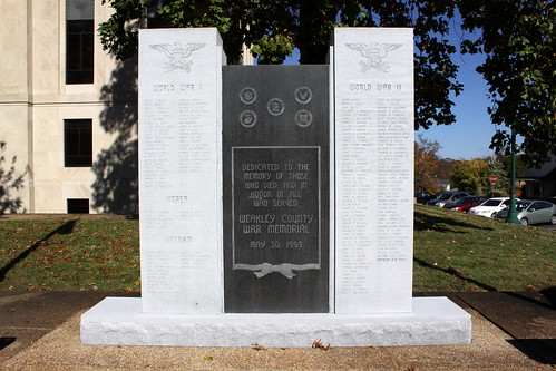 Weakley County War memorial - Dresden, TN