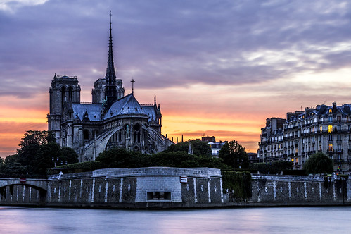 Notre-Dame, nightfall