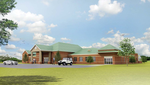 A rendering of the proposed academic complex in Gulf Shores.