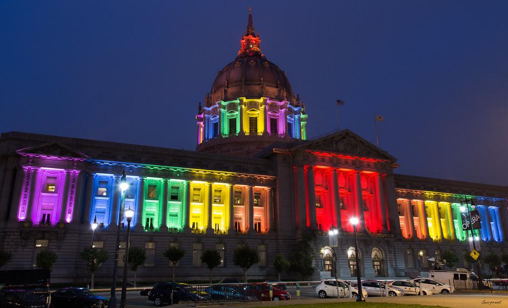 Sf Pride Sf City Hall Decks Itself Up In Pride Colors