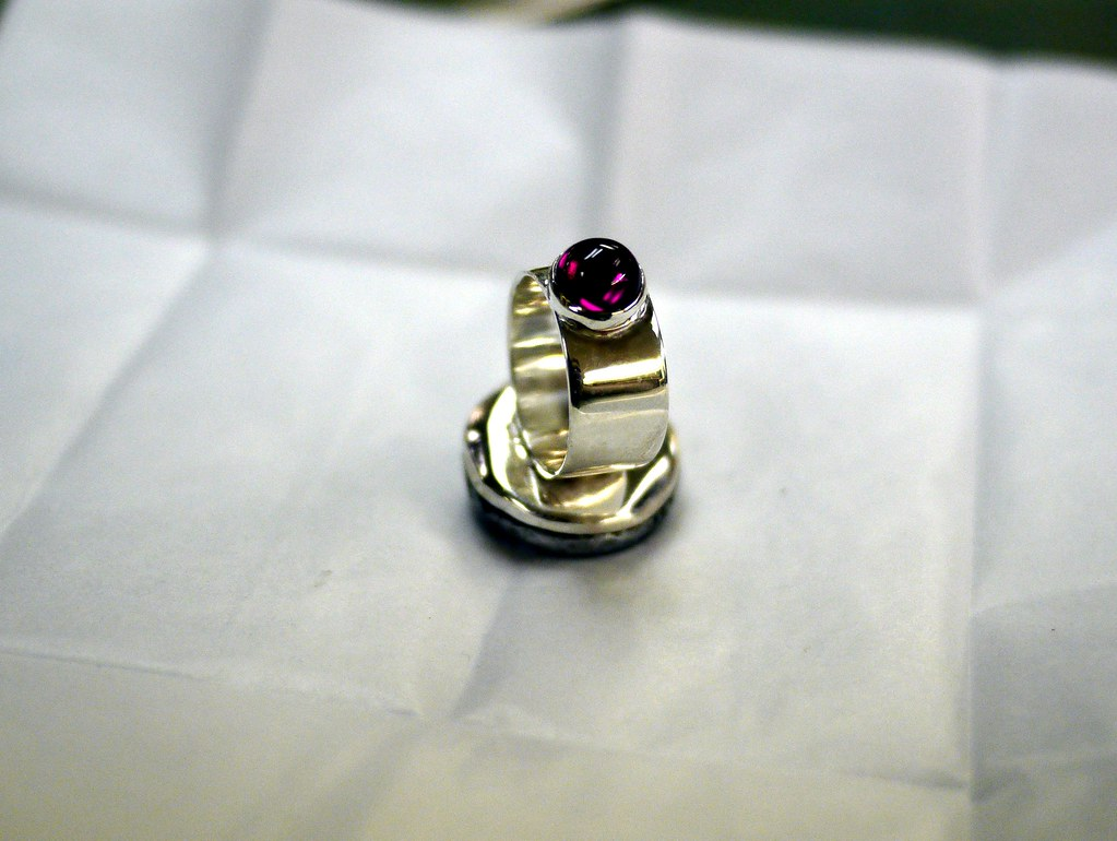 Silver Ruby Ring For Men