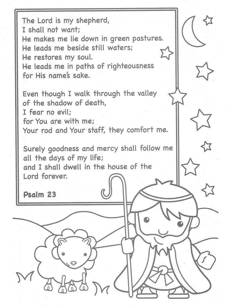 Shepherd Bible Coloring Page