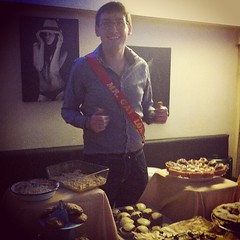 @spiller2 sporting his Mr Gay Loafer sash. #mrgayireland is a couple weeks away! #cork