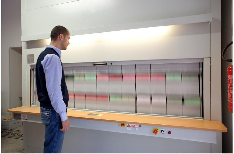 Icam Srl Rotar Vertical Rotating Shelf Filing System