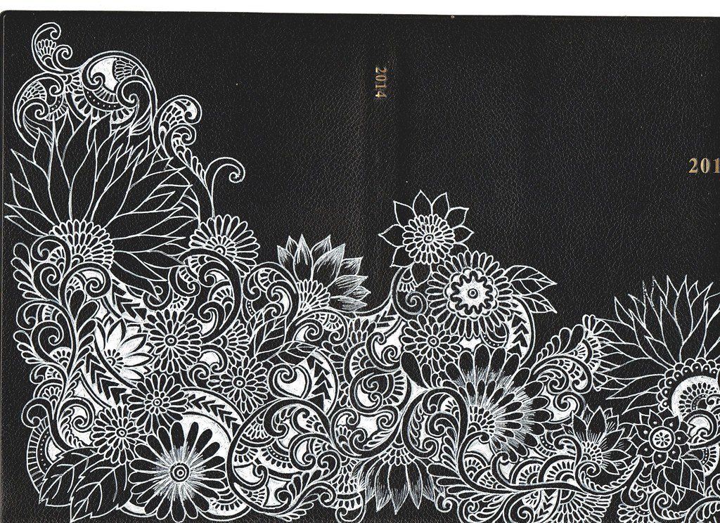 Book Cover Art Gallery : Botanical drawings diary book cover i doodled to my
