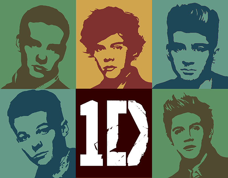 1D One Direction Toned Pop Art Digital Portrait | A ...