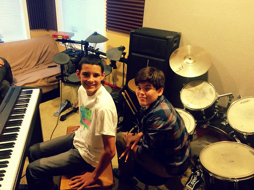 Calvin and Nick Rehearsing Evil Woman (November 3 2015)