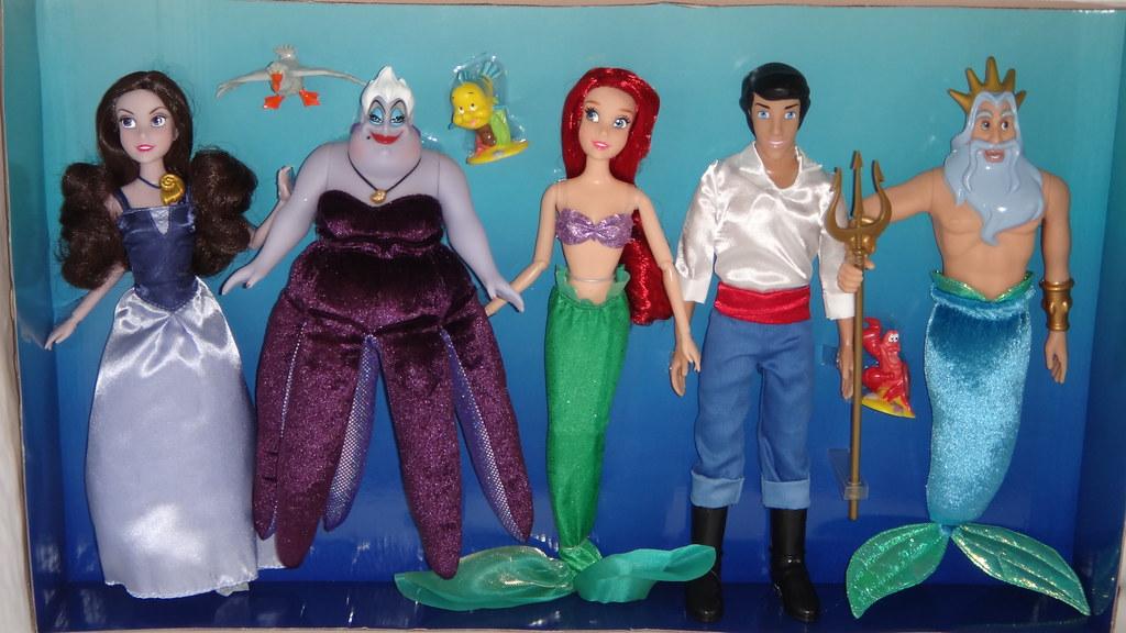 the little mermaid deluxe doll gift set - disney store