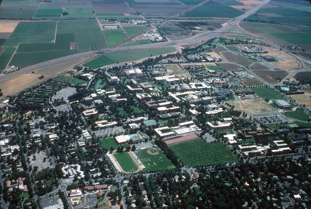 Uc Davis Aerial Photograph 1983 1 Aerial View Of The