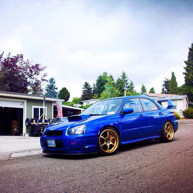 Classic Gold And Blue Subaru Wrx Sti Subielove Subie
