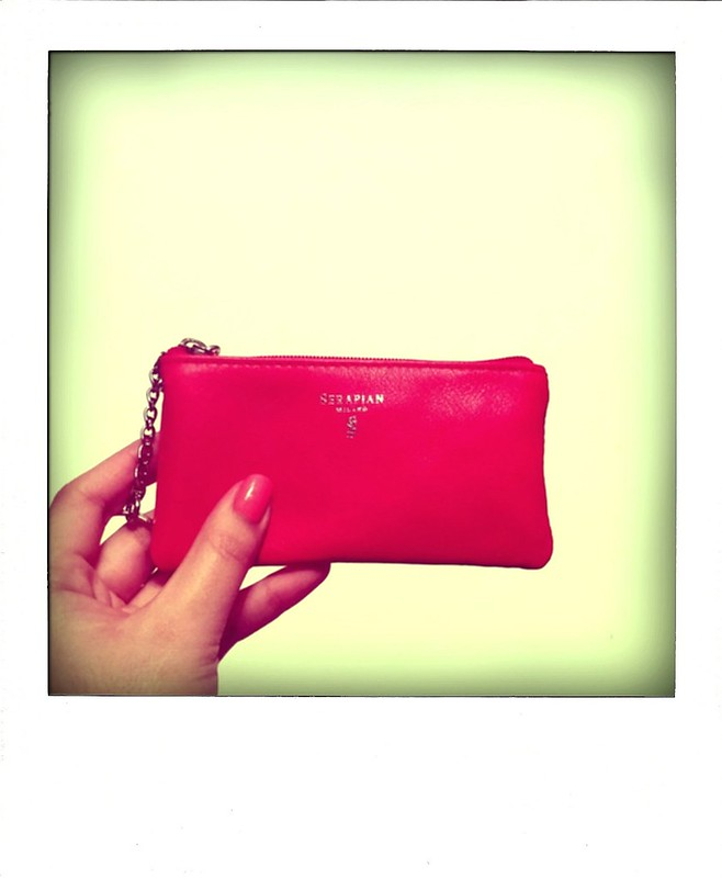 Red Serapian Leather Key Case Pouch