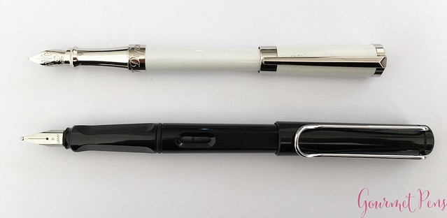 Review ST Dupont Liberté White Pearl Fountain Pen @Iguana_Sell 8