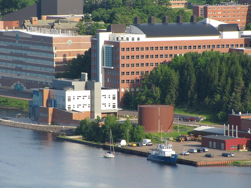 Summer View of Michigan Tech | Summer View of part of the ...