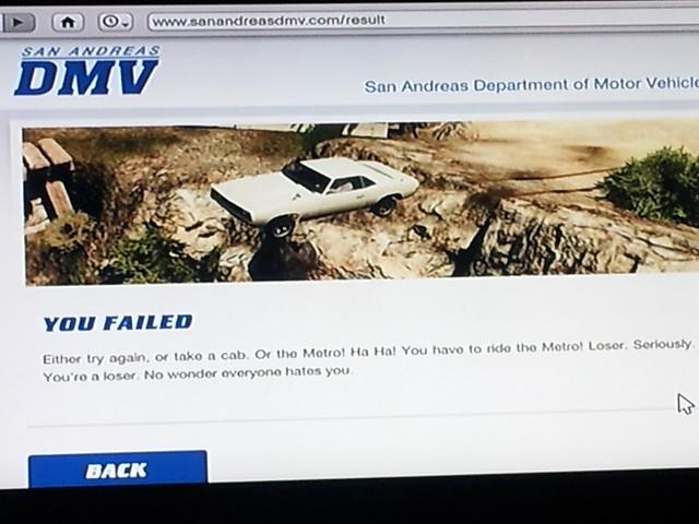 GTA V San Andreas Driving Exam
