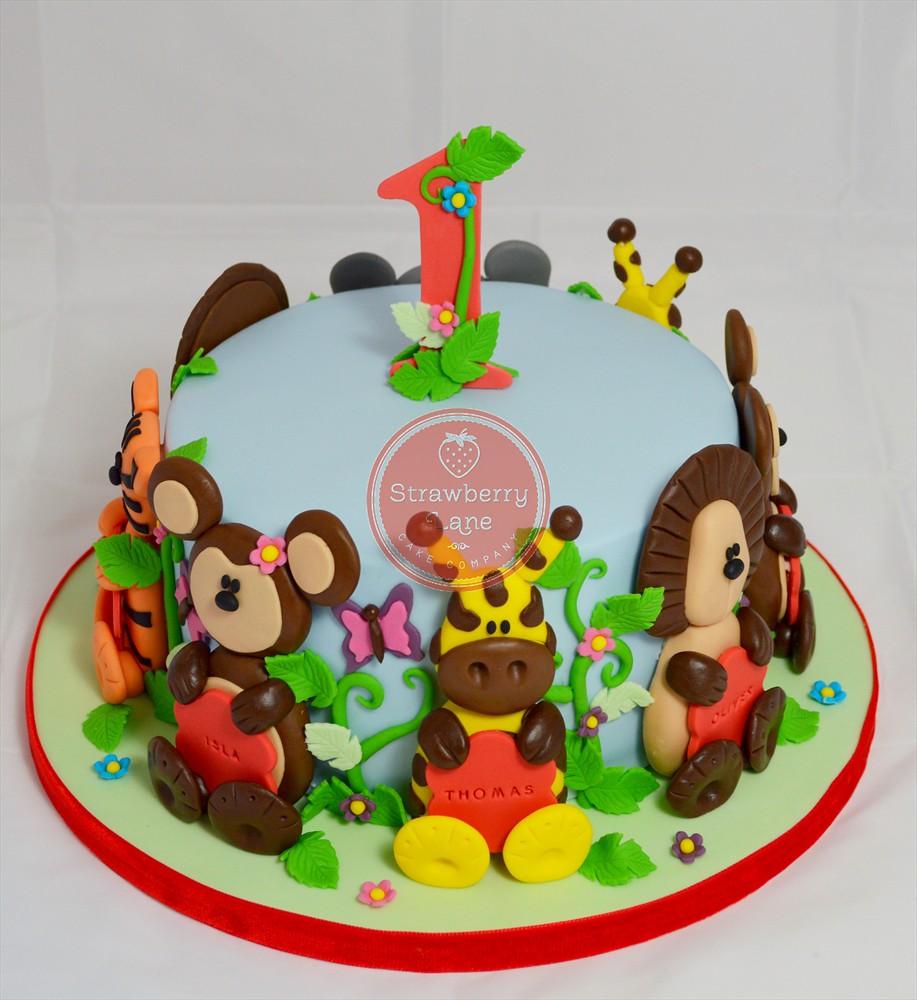 Jungle Animals Birthday Cake Ideas Image Inspiration of Cake and