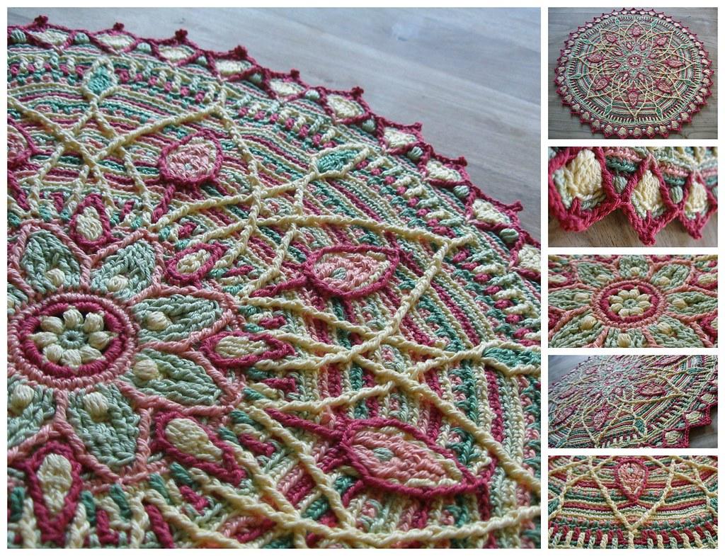 Crochet Mandala : Sunrise overlay crochet mandala See www.ravelry.com/projec ...