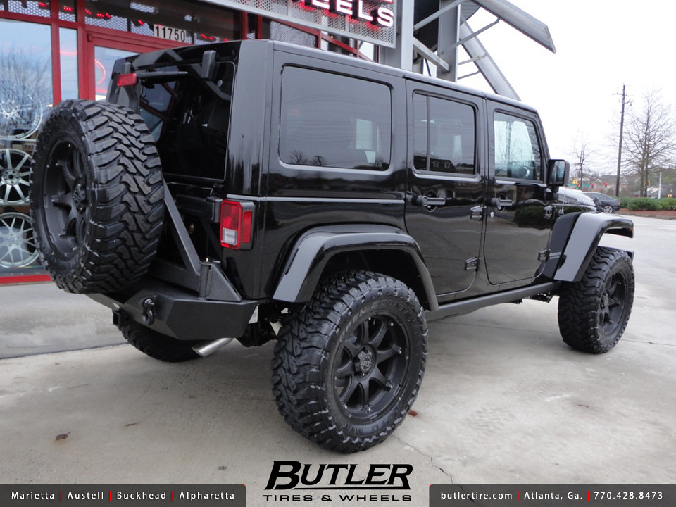 Jeep Wrangler Rubicon with 20in Black Rhino Glamis Wheels ...