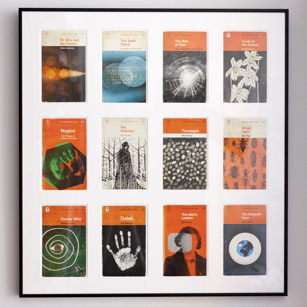 Penguin Book Cover Postcards From ~ Framed doctor who postcards coleman design these