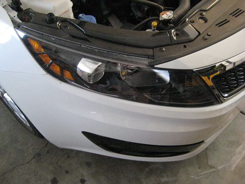 Headlight Replacement Guide : Kia optima passenger side headlight replacing low b