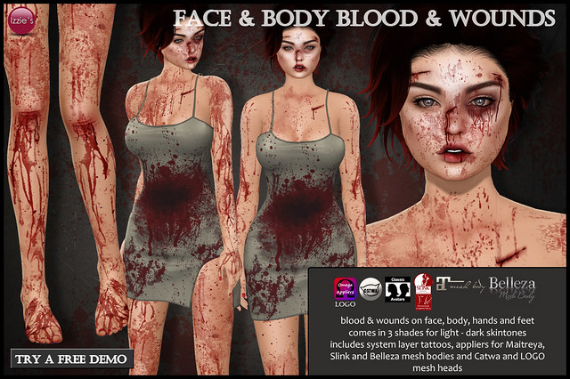 Face & Body Blood & Wounds
