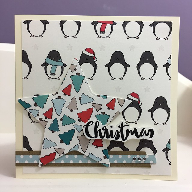 Penguins and Presents Handmade Christmas Cards
