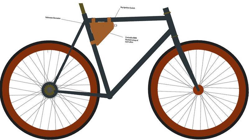 Single Gear Stealth Build - Battery in Frame Tubes | Electric Bike