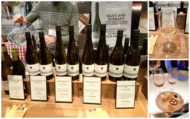 White wine and Riesling from Trail Estate