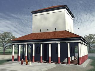 Rekonstruktion Janustempel Autun