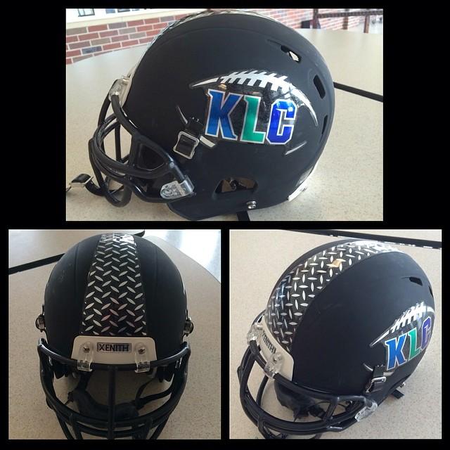 Football Helmet Sticker Designs : Chrome football helmet decals with diamond plated stripe f