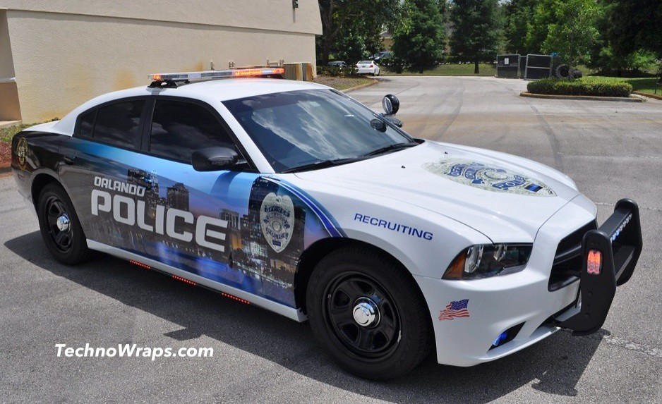 Police Car Graphics Wrap By Technosigns In Orlando Florid