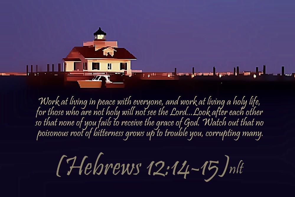 Hebrews 12:14-1... Hebrews 12:14