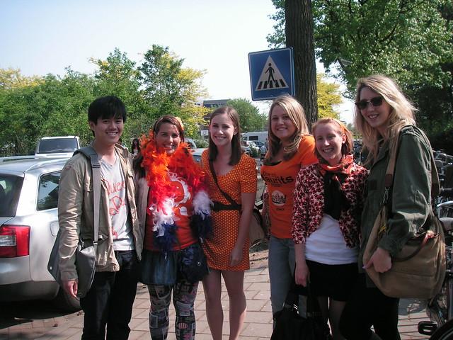 the queen's day crew: tien, alex, bailey, katie, me and mac