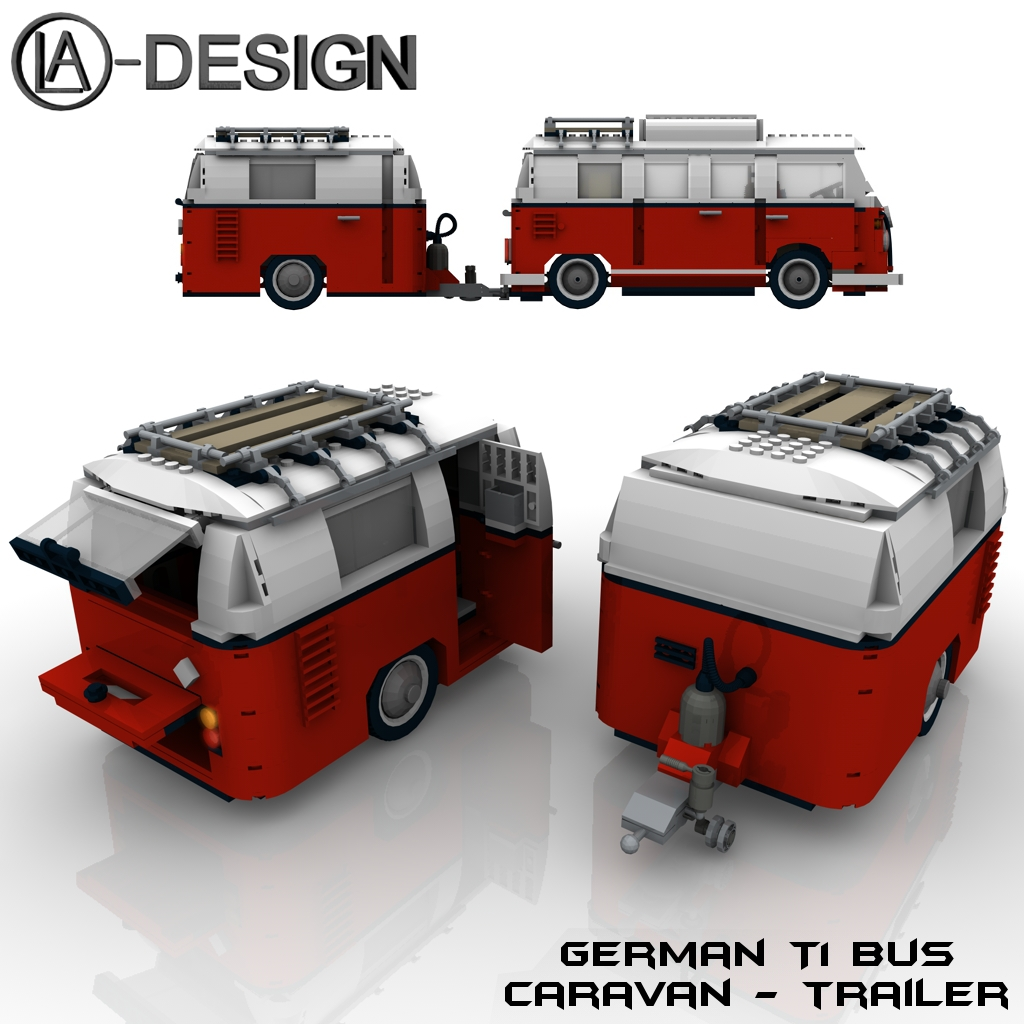lego custom wohnwagen vw t1 bus 1a the custom caravan. Black Bedroom Furniture Sets. Home Design Ideas