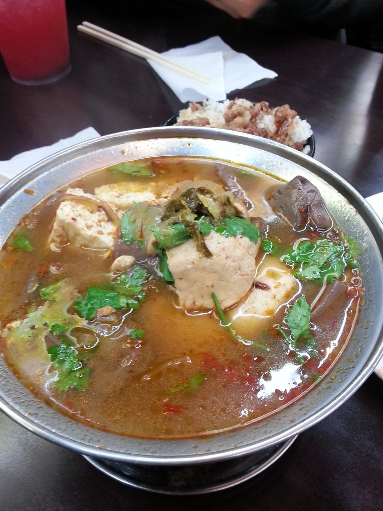 Stinky Tofu Chicago Duck Blood in Stinky Tofu Soup