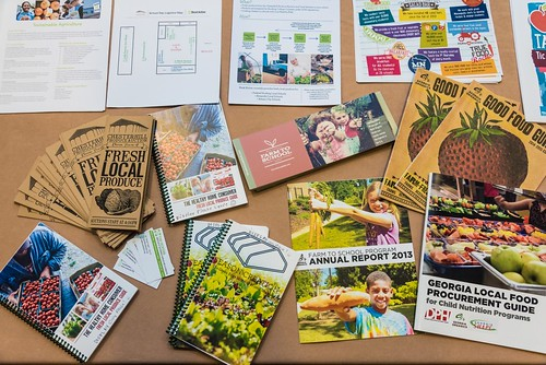 State agency materials at annual USDA Farm to School Grantee gathering