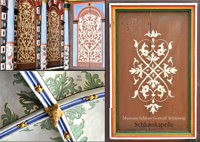 Landesmuseum für Kunst und Kulturgeschichte, Schloss Gottorf in Schleswig ... Schlosskapelle aus der Renaissance ... Fotos und Collagen: Brigitte Stolle 2016