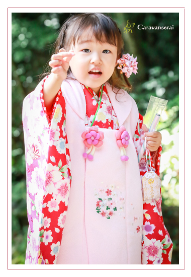 猿投神社(豊田市) 七五三写真撮影 同行撮影 ロケーションフォト フォトスタジオ 写真館 着物 和装 女の子