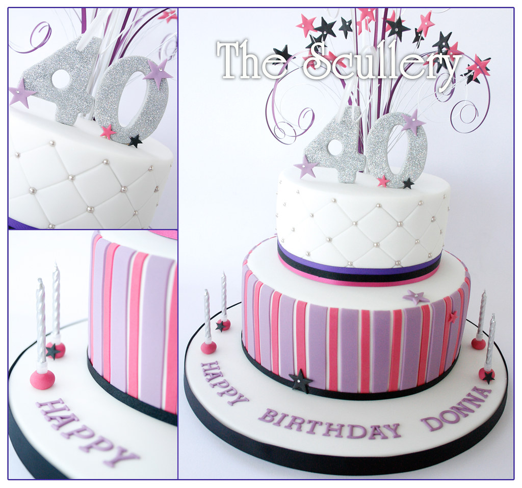 Birthday Cake Designs For A Lady : Ladies 40th Birthday Cake The Scullery (Louise) Flickr