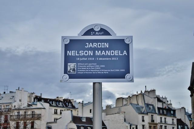 2013 12 21 les halles le panneau jardin nelson mandela for Jardin nelson mandela