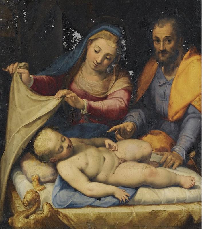 Lorenzo Sabatini - Holy Family with sleeping Christ child (1571)