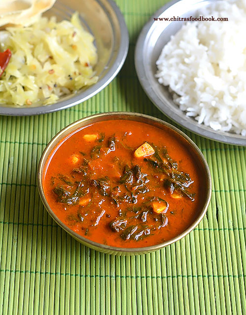 Vendhaya Keerai Kuzhambu Recipe / Methi leaves gravy