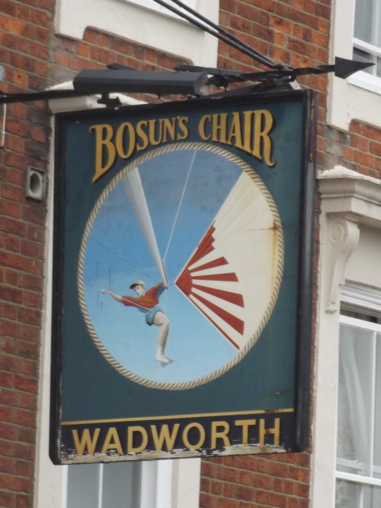 The Bosun s Chair Station Street Lymington pub sign