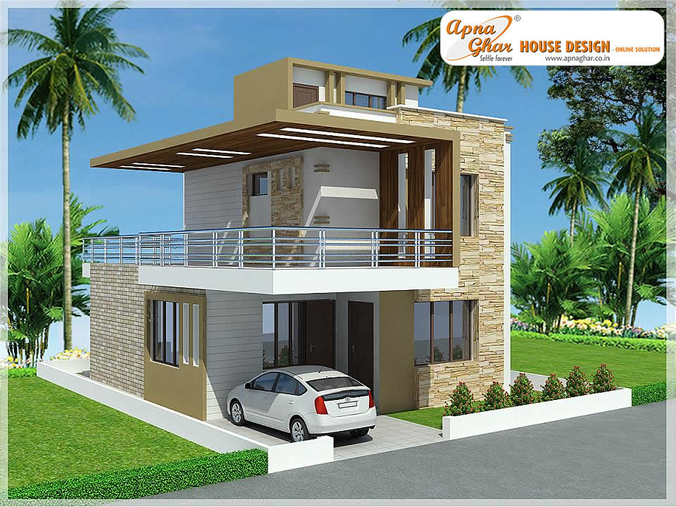 Modern duplex house design modern duplex house design in for Modern duplex house designs